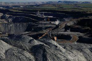 Una explotación de carbón.