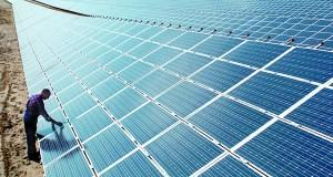 Imagen de un parque solar.