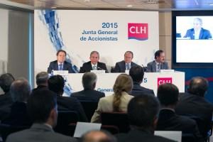 Un momento de la junta general de accionistas de CLH.