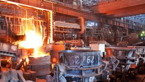 Una planta siderúrgica.