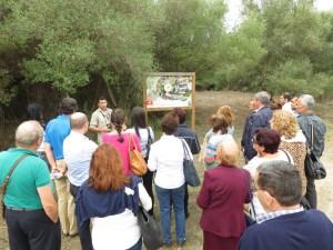 Una de las visitas al centro de interpretación Madrevieja.