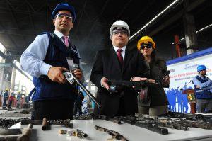 MINISTERIO INTERIOR PERUANO DESTRUYE 3.567 ARMAS INCAUTADAS A LA DELINCUENCIA