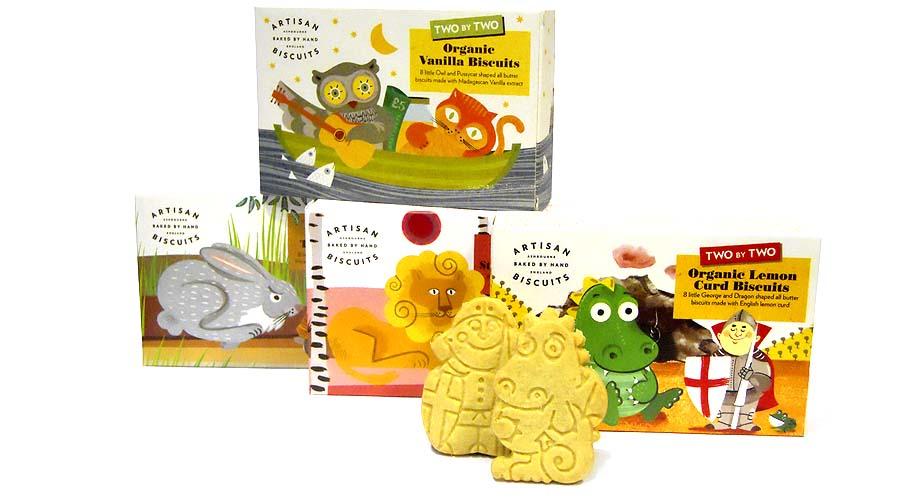 Galletas orgnicas con forma de animales Artisan Biscuits