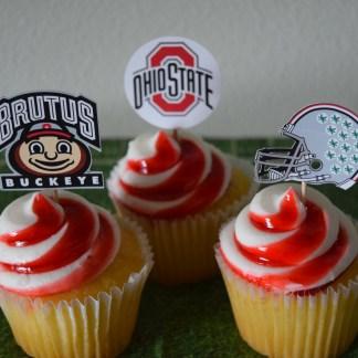 Cupcake Toppers Football Big Ten Ohio State Michigan
