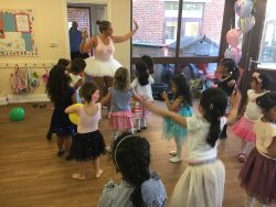Ballerina dance party with Lolly
