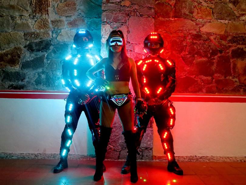 coreografía leds, coreografía laser, baile leds, baile laser, espectáculo leds, espectáculos leds, show leds