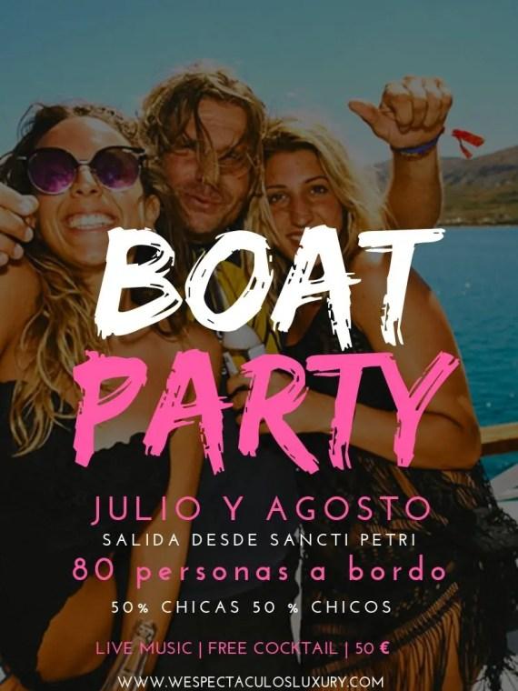 Fiesta en barco en Sancti Petri - Conil