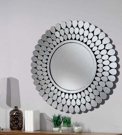 ESPEJO REDONDO CRISTAL MOBIMUNDO espejo decorativo de