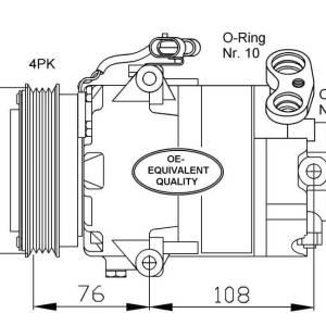 Compresor de Aire Acondicionado OPEL Astra G 1.7td=DELPHI CVC