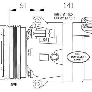 Compresor de Aire Acondicionado de OPEL Frontera B-Vectra B-Omega B=DELPHI V5