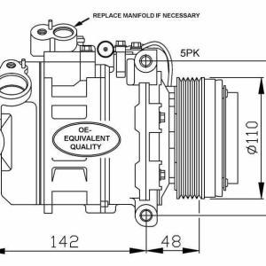 Compresor de Aire Acondicionado de BMW 320-323-325-328-330-520-523-525-528-530-535-540-728-735-740-730-X3-Z8