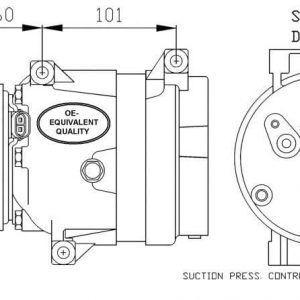Compresor de Aire Acondicionado de CITROEN-PEUGEOT-C5