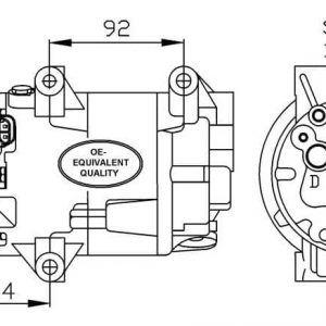 Compresor Aire Acondicionado RENAULT Clio-Megane Ii-NISSAN