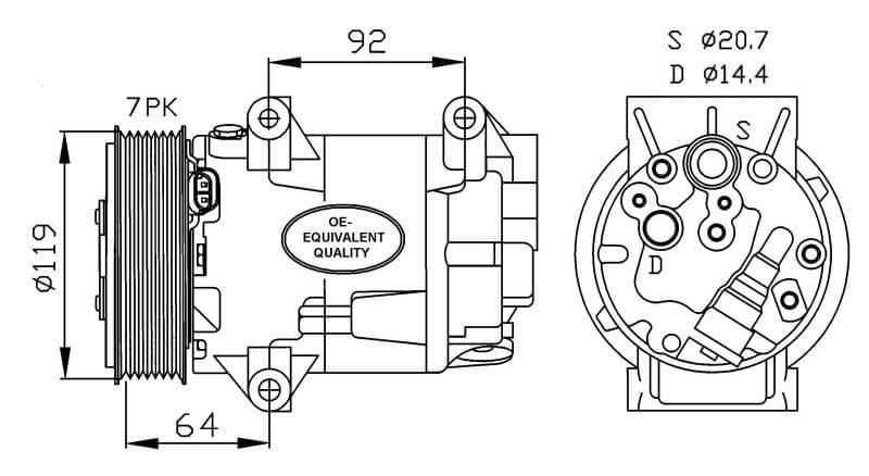 Compresor Aire Acondicionado RENAULT Megane II-scenic I-II