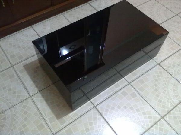 mesa centro vidro branco vermelha bisotado 800x450x250