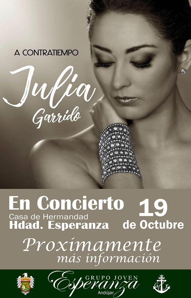 """Cartel del concierto """"A contracorriente"""" de Julia Garrido"""