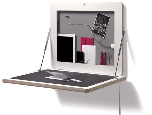 FLATBOX wall-mounting secretary desk design Michael Hilger-01