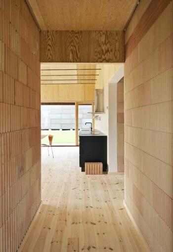 casa in legno massa interna