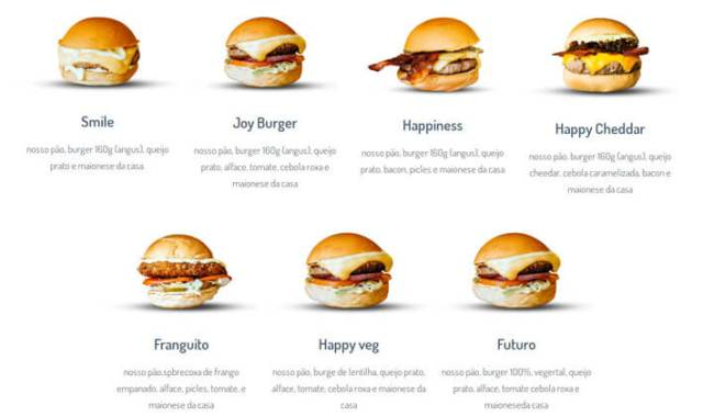 Movimento Happiness menu - Movimento Happiness