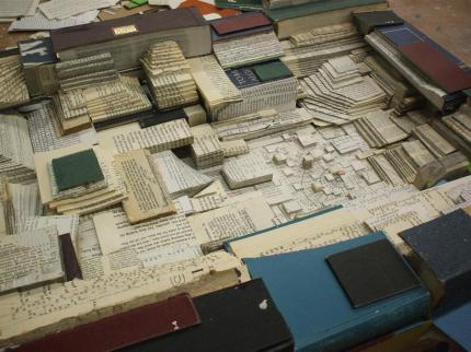 espinosa-art_found-object-sculpture_book-layers