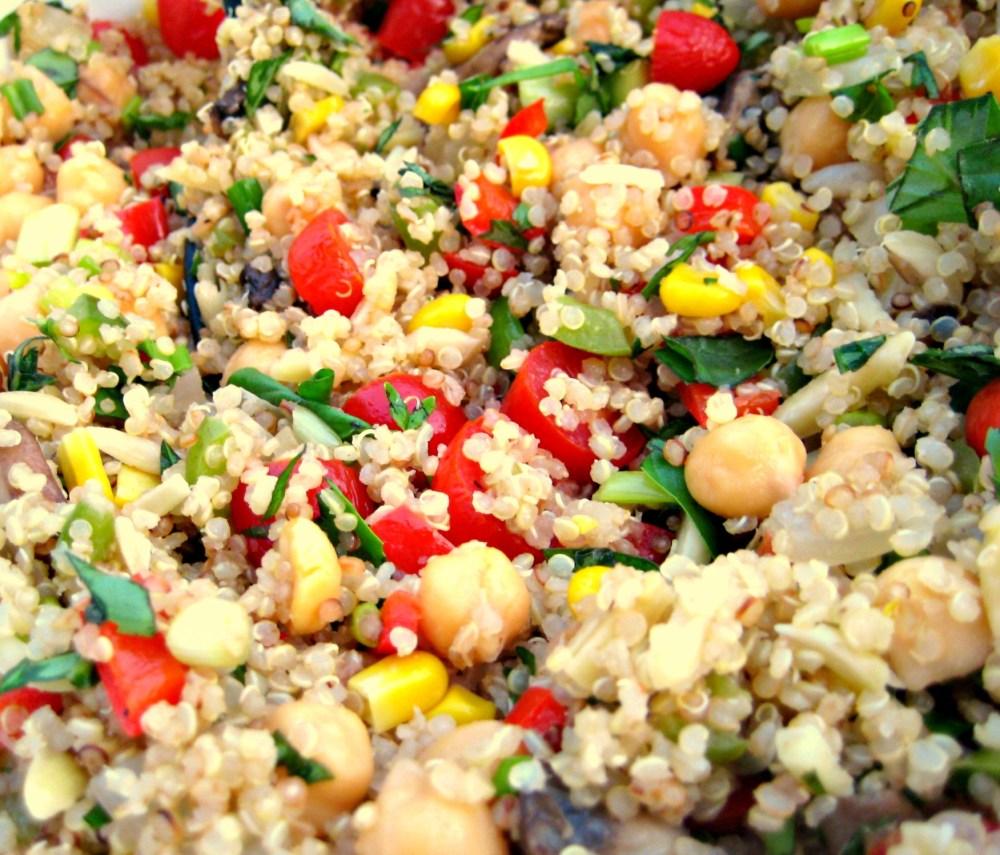 Lemon-Basil Quinoa Vegetable Salad