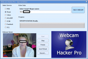 espionner une webcam