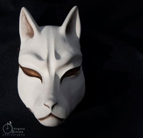 Máscara Kitsune Blanca