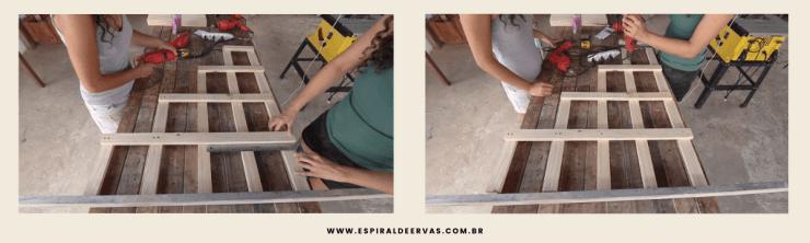 Alinhamento da posição das madeiras