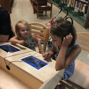 children using the iPads