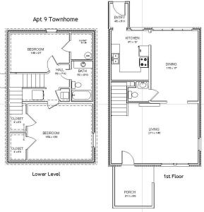848506386013956308 likewise Garage Apartment Floor Plans also 2 Story Townhome Plans additionally Vacation Cottage Or Carriage House 9814sw as well Available Units. on 1 bedroom carriage house plans