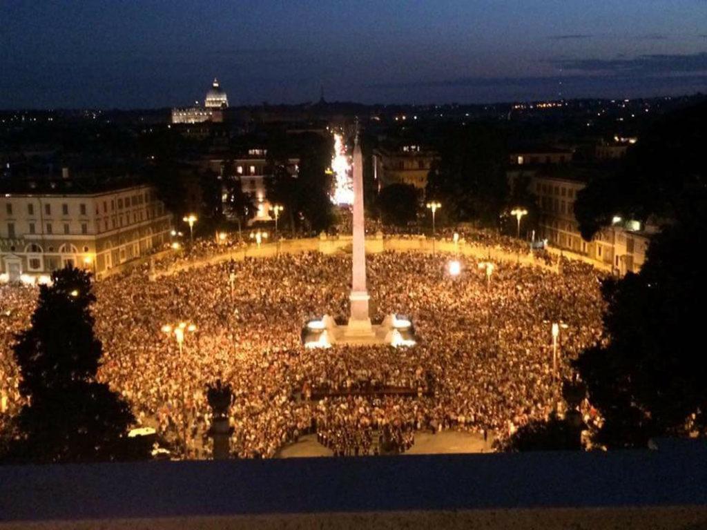 Roma, San Pietro e Paolo, Girandola piazza del Popolo 29 giugno 2017