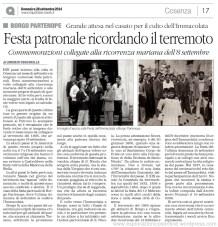 Articolo festa Borgo L.Coscarella