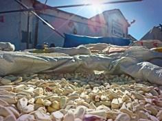 Mais bianco, mercato di Chiway, Perù