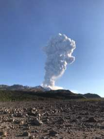 Shiveluch during the September 2017 eruption. See the photos and video of the fieldwork here