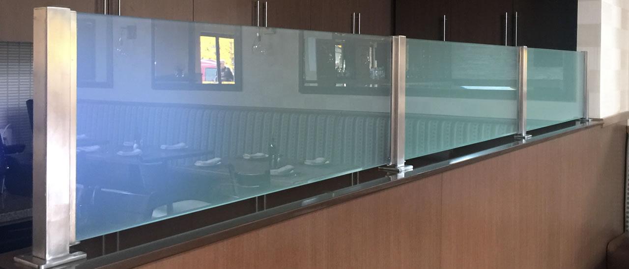 Custom Restaurant Booth Divider Options  ESP Metal