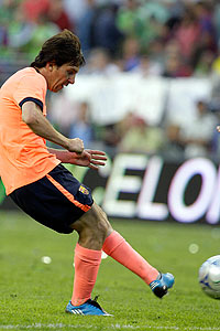 Messi ajusta el primer gol blaugrana