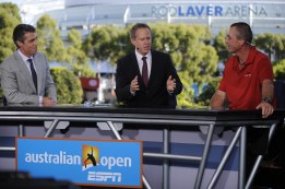 Chris Fowler, Patrick McEnroe and Ivan Lendl - Australian Open - January 23, 2012