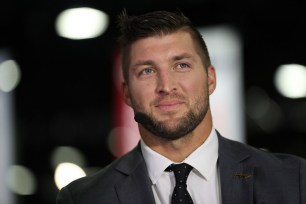 Atlanta, GA - December 2, 2016 - Georgia Dome: Tim Tebow on the set of the Paul Finebaum Show during the 2016 SEC Championship (Photo by Allen Kee / ESPN Images)