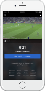 New 10-minute live streaming preview in full screen portrait view.