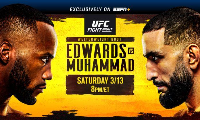 UFC Fight Night on ESPN+: Edwards vs. Muhammad Live from Las Vegas on  Saturday, March 13 - ESPN Press Room U.S.
