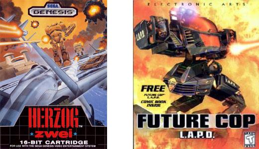 Herzog Zwei e Future Cop: LAPD: i precursori dei videogiochi MOBA.