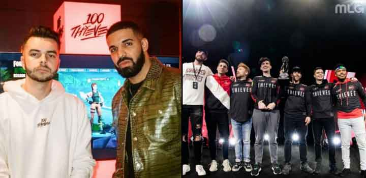 Drake, co-owner 100 Thieves