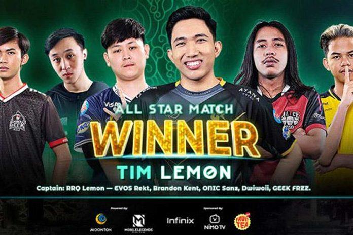 Tim Lemon Juarai MLBB All Star Match Kalahkan Tim Emperor