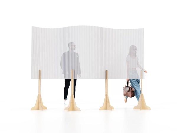 pareti divisorie in cartone ondulato