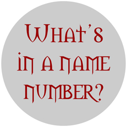 Numerology Name numbers