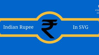 Rupee Symbol SVG
