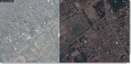 Nepal Earthquake Before and After - a Visual experience