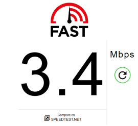 Firefox Speed Test Result
