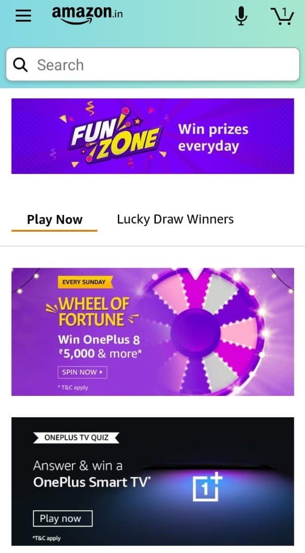 amazon quiz funzone details