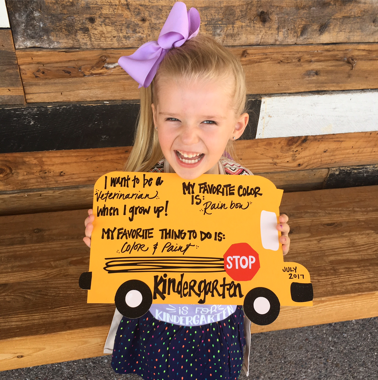 Kinder Garden: My Wish For You... On Your First Day Of Kindergarten